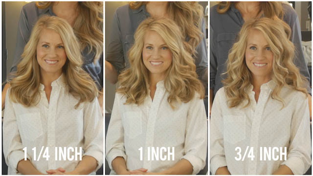 Curling Iron Barrel Size