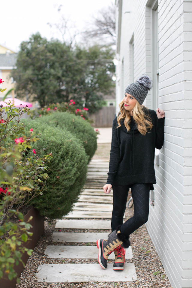 Winter Outfit With Boots and Beanie